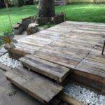 Pallet Garden Deck Floor Ideas Recycled