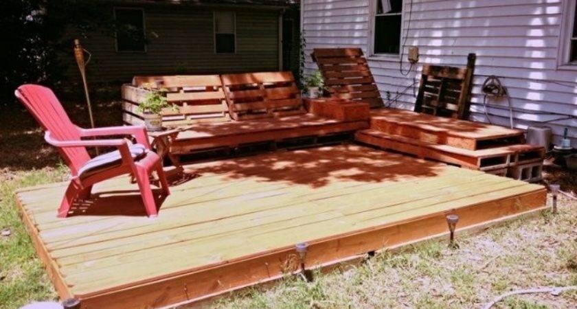 Pallet Garden Deck Floor Ideas Recycled