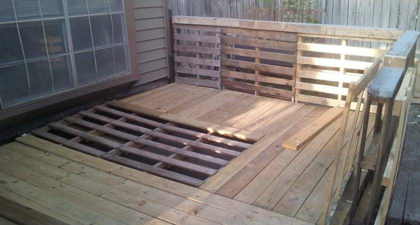 Pallet Garden Deck Railings Things Have Built