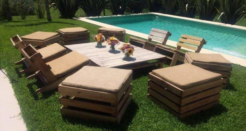 Pallet Garden Seating Furniture Plans