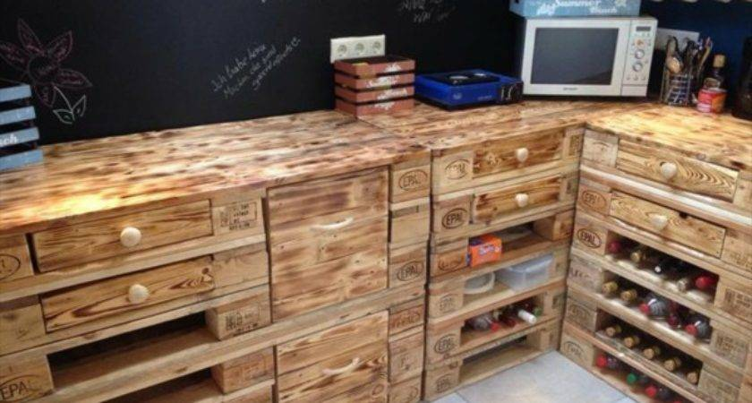 Pallet Kitchen Furniture Idea