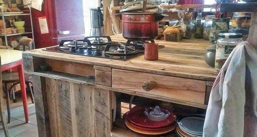 Pallet Kitchen Island Furniture
