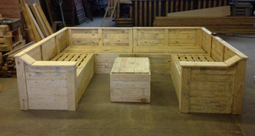 Pallet Made Sofa Table Ideas Recycled