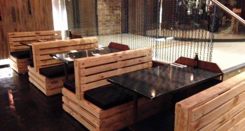 Pallet Seating Set Restaurant Furniture Plans
