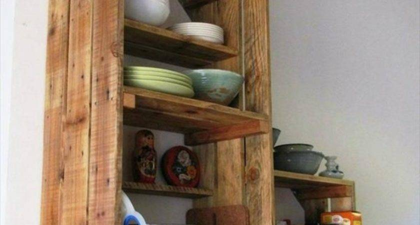 Pallet Shelf Ideas Kitchen Recycled