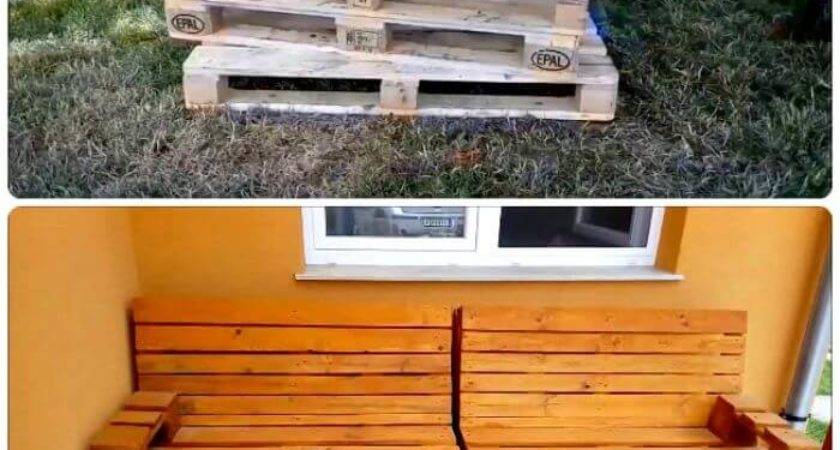 Pallet Sofa Diy Plans Crafts