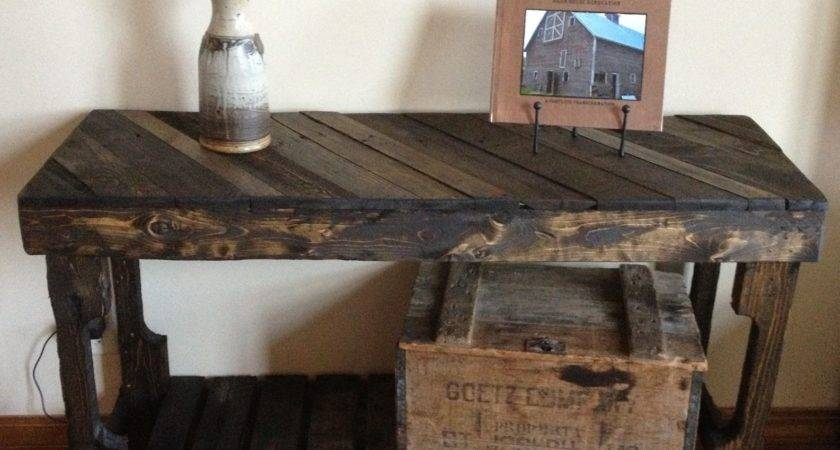 Pallet Sofa Table Rustic Recyclery