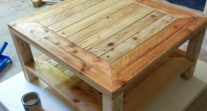 Pallet Table Steps