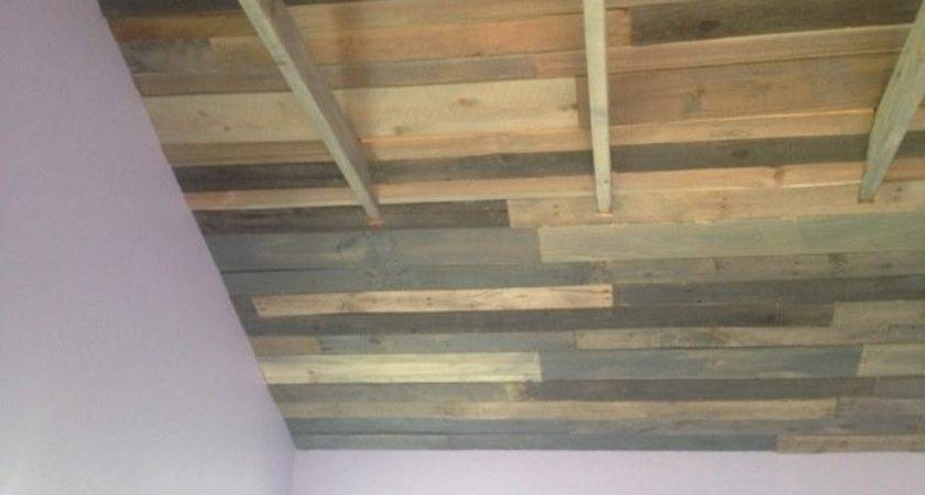 Pallet Wood Ceiling Its Descendants Busterbrown