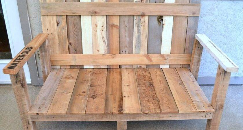 Pallet Wood Outdoor Sofa Reveal Funky Junk