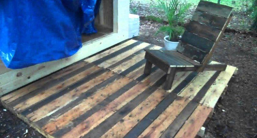 Pallet Wood Project Deck Chair Made