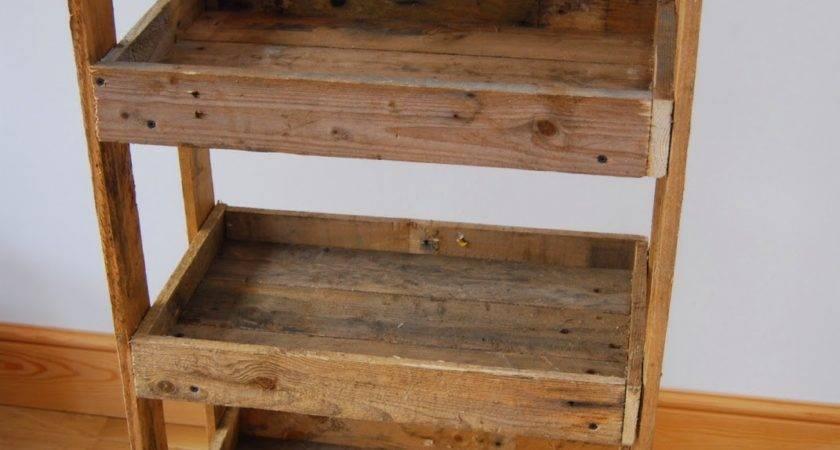 Pallet Wood Shelving Unit Brick Dust Glitter