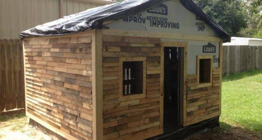 Pallet Wood Siding Outdoor Shed
