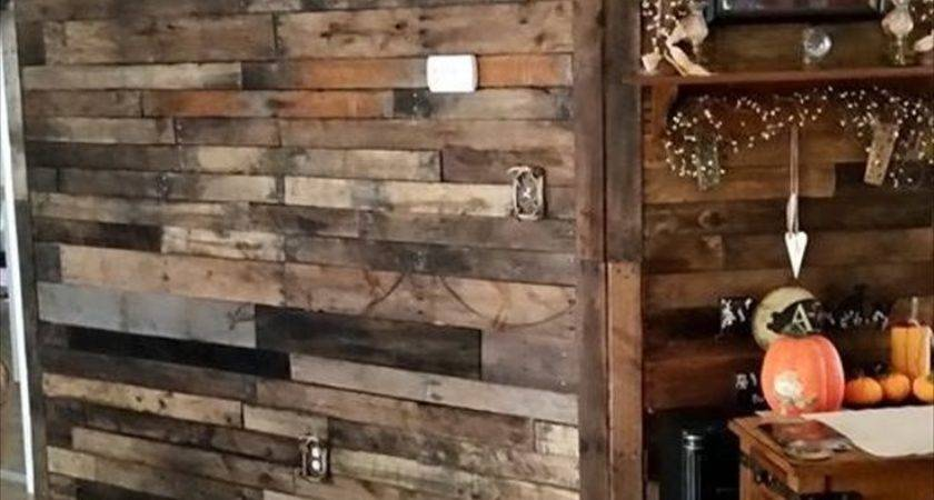 Pallet Wood Wall Room Divider Ideas