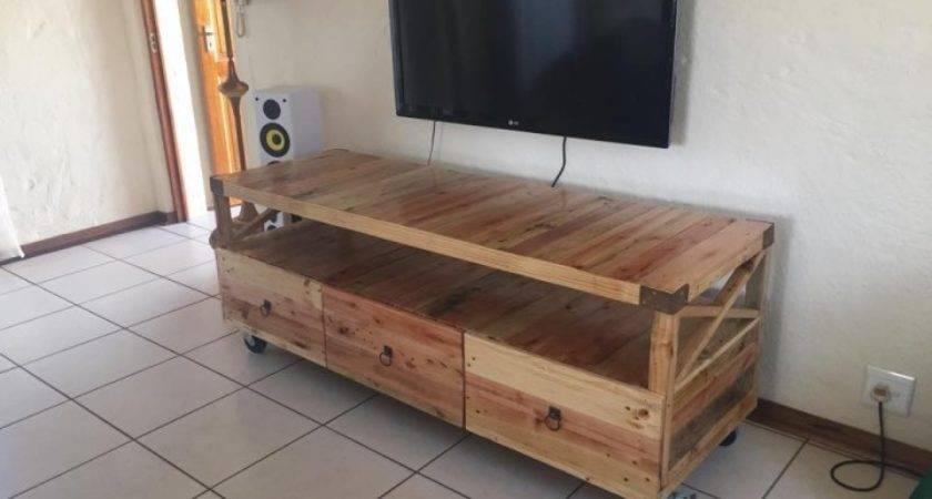 Pallets Ideas Designs Diy Wooden Pallet Rustic Stand