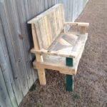 Pallets Made Garden Chair Bench Decor Home Ideas