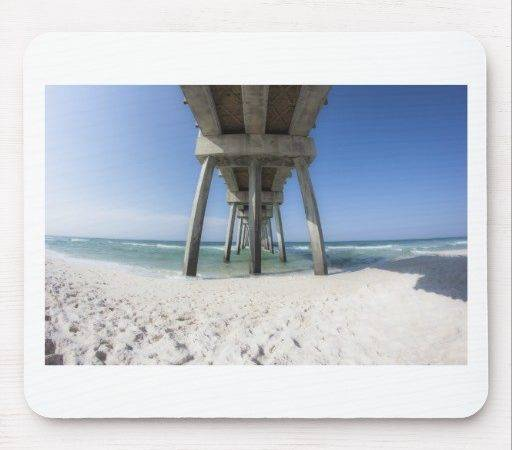 Panama City Beach Pier Mouse Pad Zazzle