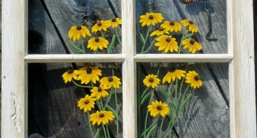 Panes Art Barn Quilts Hand Painted Windows Window