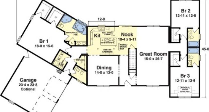 Parkridge Simplex Modular Homes Ranch Floorplan