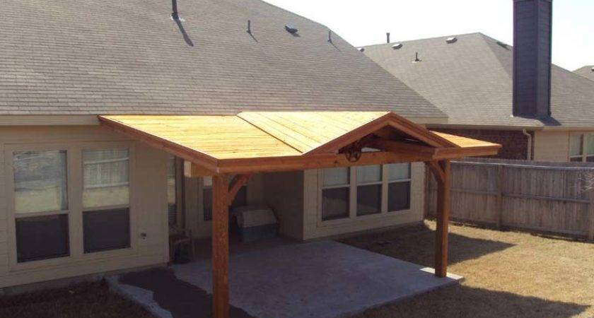 Patio Cover Starburst Gable Attached Fascia