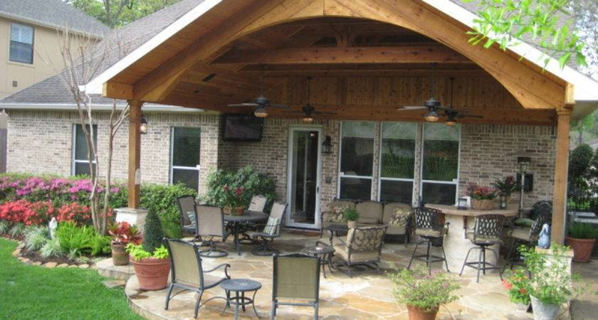 Patio Covers Traditional Houston Wood