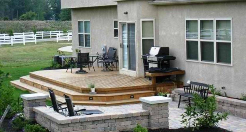 Patio Deck Combinations Columbus Decks Porches