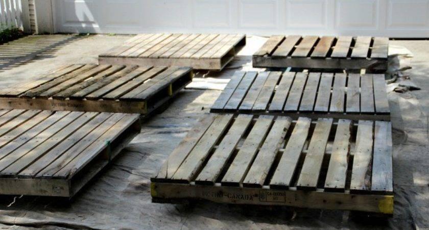 Patio Deck Made Pallets Home Citizen