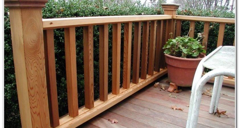 Patio Deck Railing Designs Decks Home Decorating Ideas
