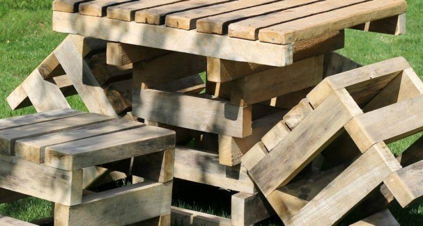 Patio Furniture Out Wood Pallets