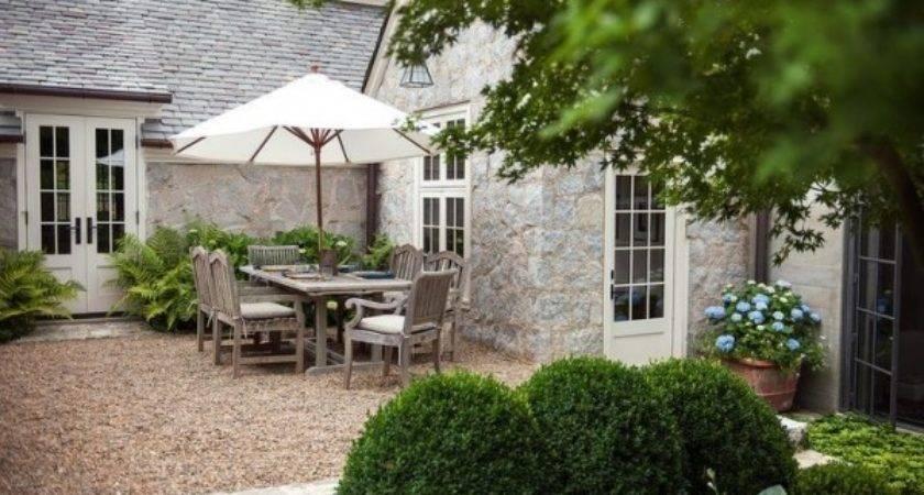 Patio Landscape Design Cost Effective Pea Gravel