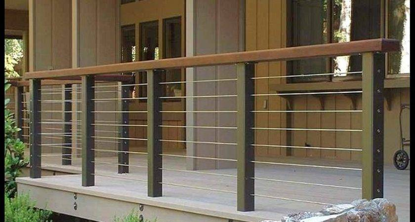 Patio Railing Ideas Modern Deck