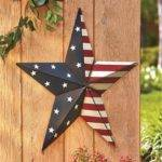 Patriotic Americana Large Scale Barn Star Home Decor