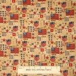 Patriotic Usa Flag Star Fabric Cotton Yard
