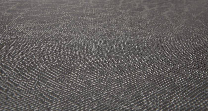Patterned Vinyl Fabric Carpeting Graphic Texture Grey