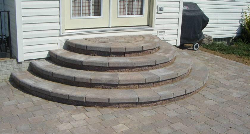 Pavers Patio Ideas Paver Stairs Steps Design