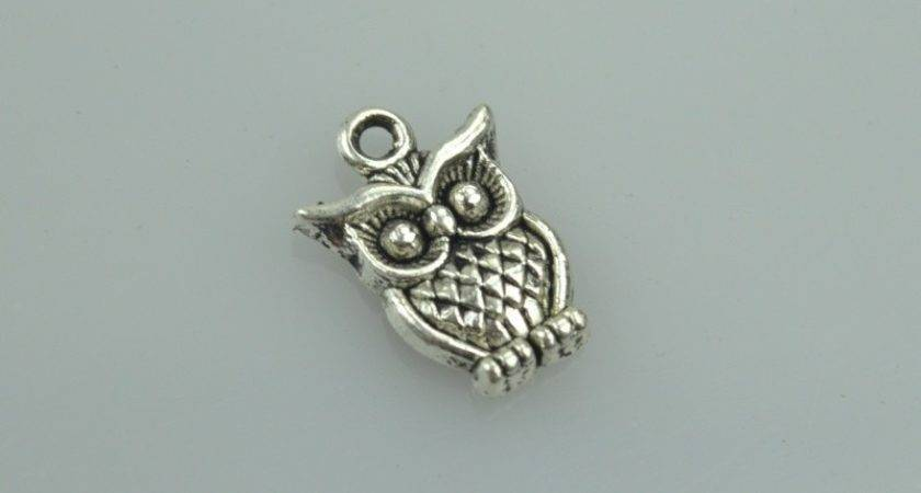Pcs Shipping Retro Silver Charms Diy Metal Owl