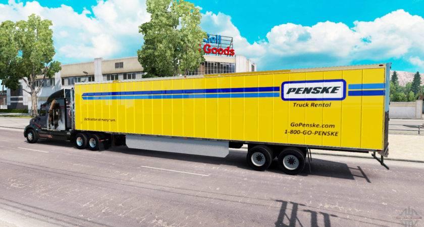 Penske Skin Trailer American Truck Simulator