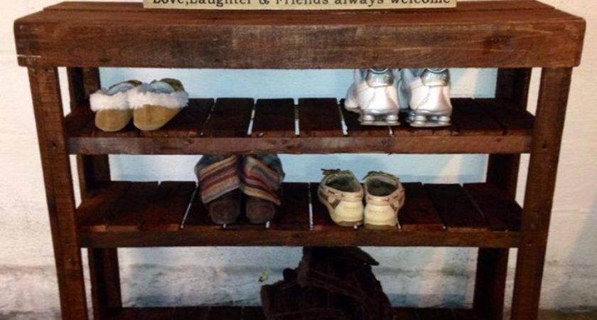 Perfect Pallets Shoe Rack Table Pallet Ideas