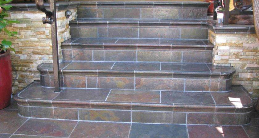 Perhaps Could Tile Over Our Concrete Steps Slate