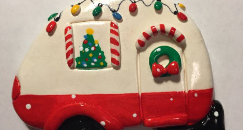 Personalized Airstream Christmas Ornament