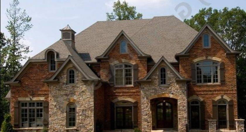 Photos Houses Brick Stone Combinations