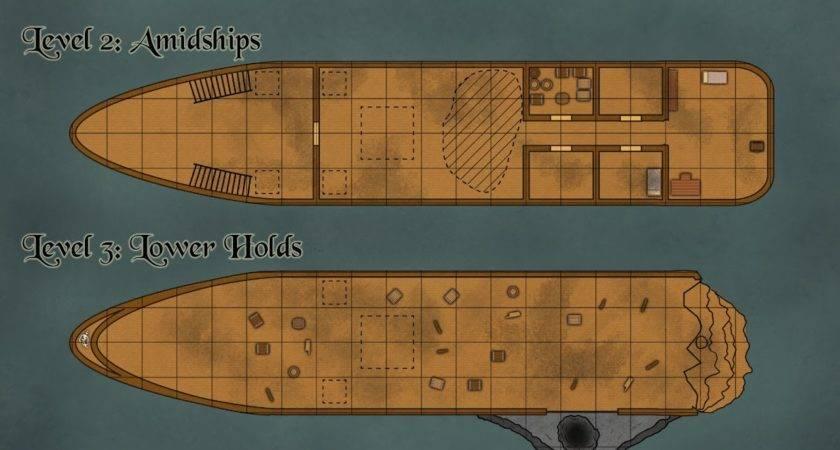 Pirate Ship Deck Plans