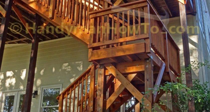 Planning Building Wood Deck Stairs Landing