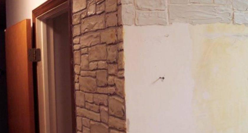 Plaster Stencil Realistic Stone Wall Walls Stencils