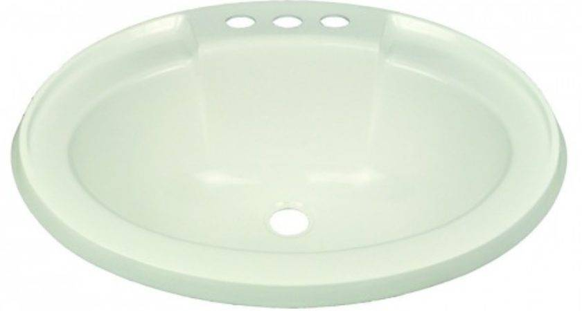 Plastic Oval Lavatory Sink White Star