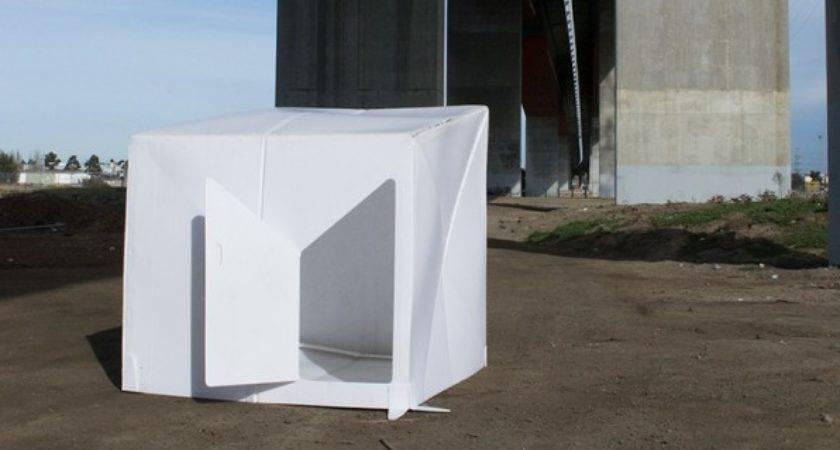 Plastic Sheet Morphs Into Disaster Shelter Minutes