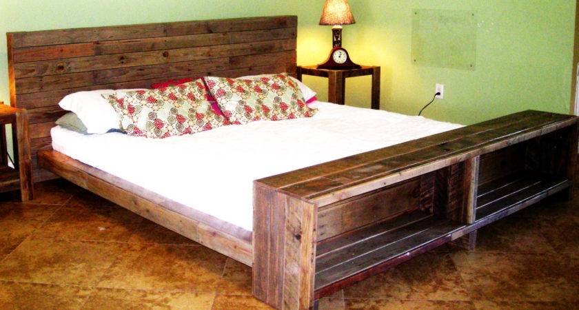 Platform Bed Reclaimed Pallet Wood Reanimatedwood Etsy