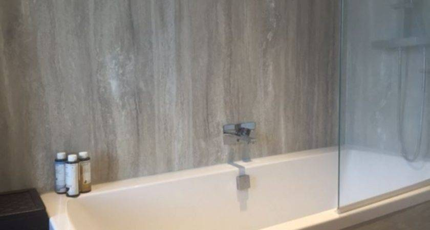 Platinum Travertine Nuance Bathroom Wall Panel