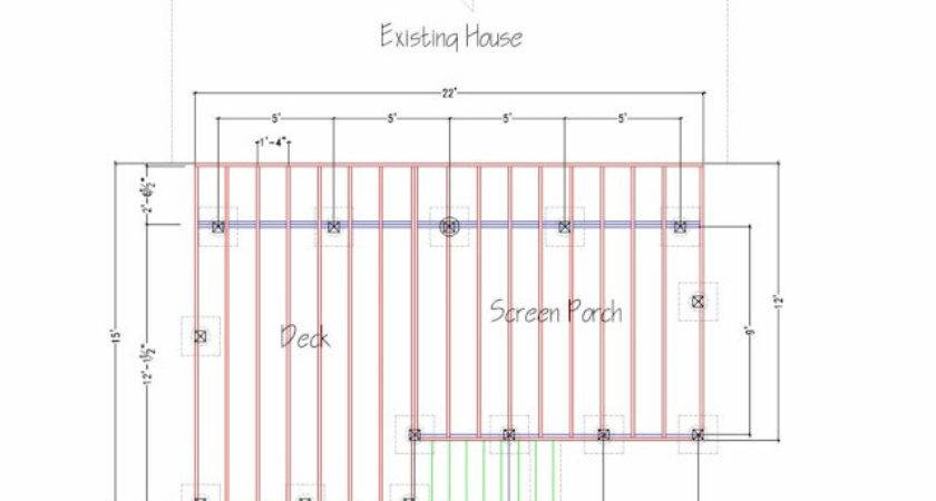 Please Eyeball Deckporch Framing Plan Building Deck