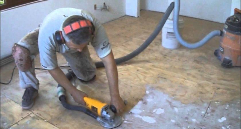 Plywood Subfloor Preparation Hardwood Laminate Floor